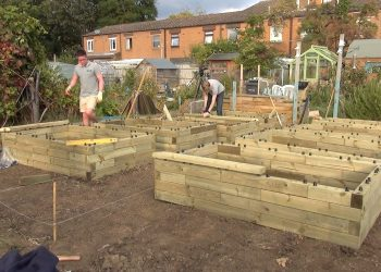 Constructing the raised beds